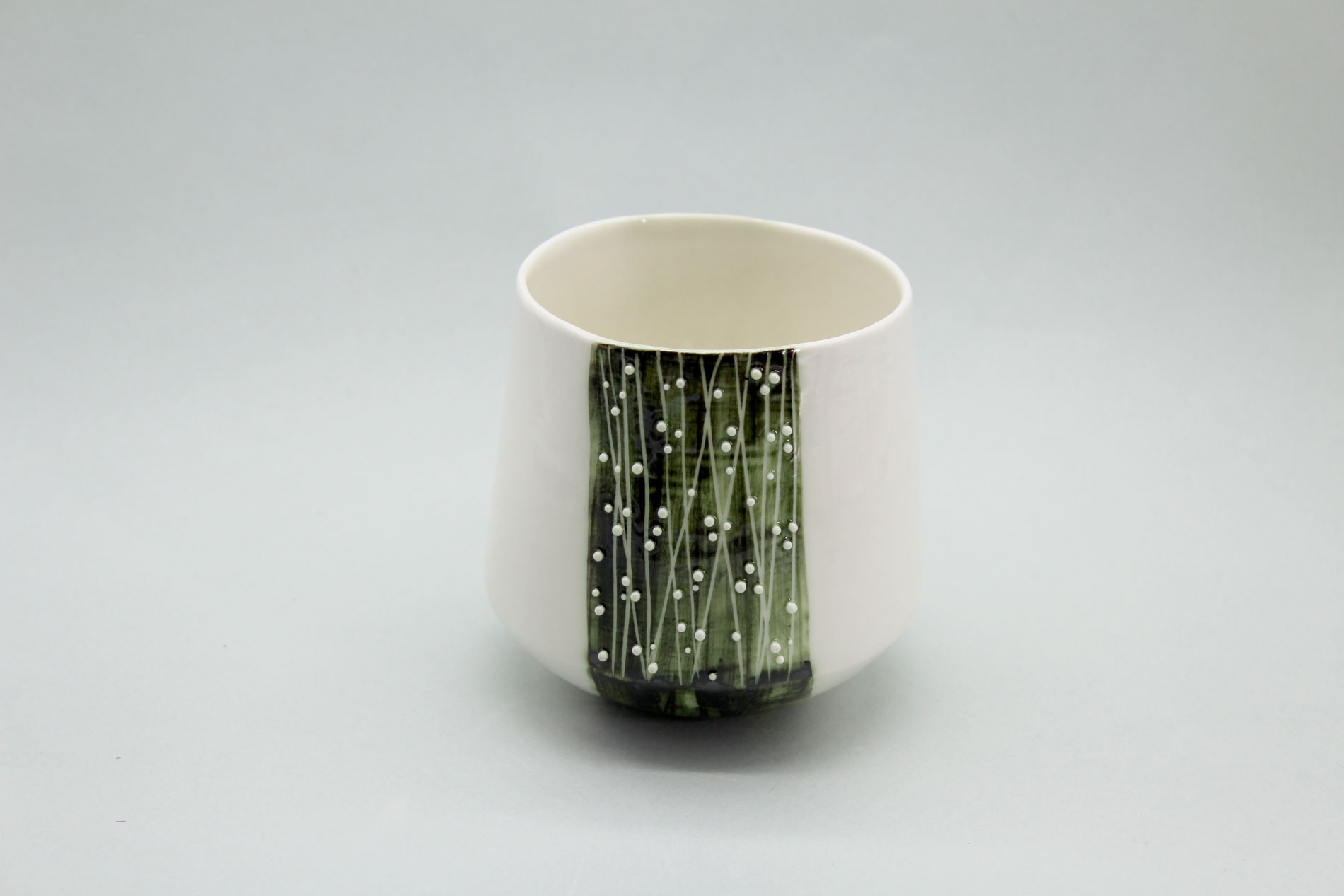 tasse verte porcelaine