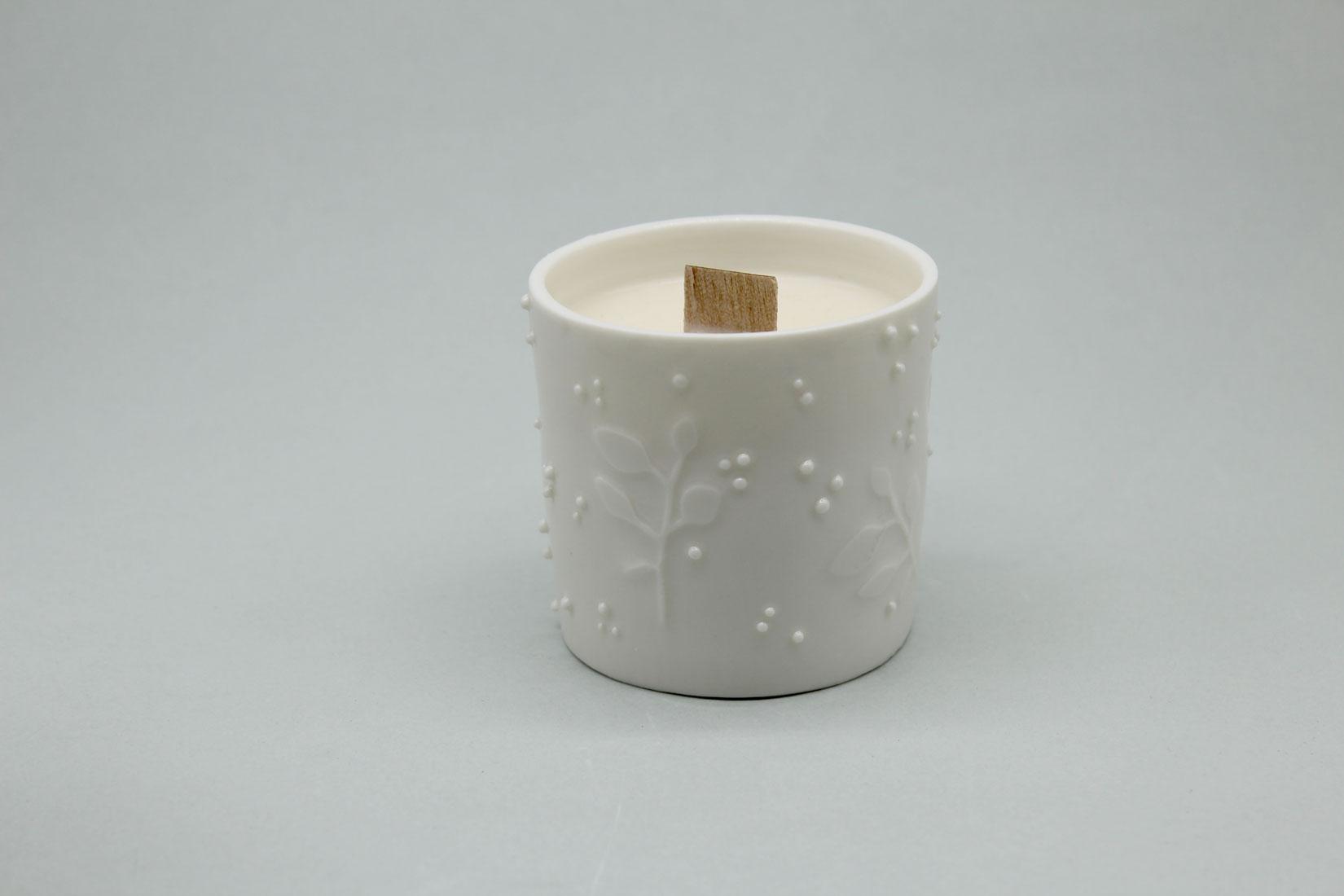 bougie porcelaine soja